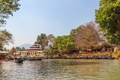 Indein port at Inle lake Royalty Free Stock Images