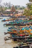 Indein port at Inle lake Stock Photography