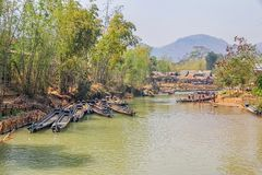 Indein port at Inle lake Stock Images
