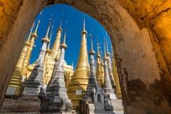 Indein village Pagoda. Inle Lake, Myanmar Stock Image