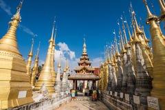 Indein village Pagoda. Inle Lake, Myanmar Stock Photography