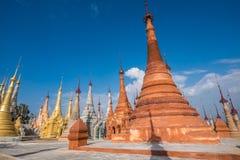 Indein village Pagoda. Inle Lake, Myanmar Stock Photos