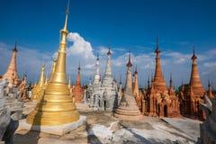 Indein village Pagoda. Inle Lake, Myanmar Stock Photo