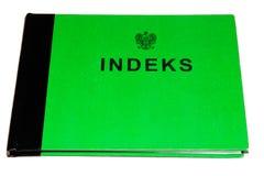 Indeks polonais - livre d'enregistrement images libres de droits