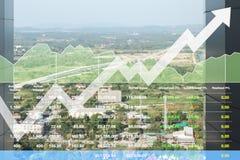 Indeksu giełdowego przedstawienia pieniężny wzrok pomyślny inwestorski przyrost na transportu biznesie zdjęcia royalty free
