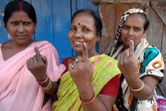 Indelible Ink On My Finger. Indian Election Commission has given instructions regarding application of indelible mark on the fingers of voters during Stock Image