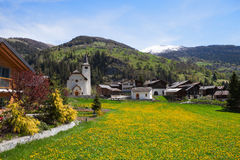 Inden village, canton of Valais, Switzerland. Stock Image