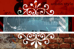 Indennità grafica urbana degli elementi Fotografia Stock Libera da Diritti