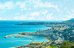 Indented coastline of Cote d`Azur Royalty Free Stock Photography