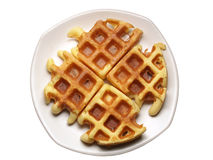Indented waffles Royalty Free Stock Photos