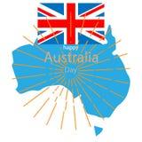 Indepedence de l'australie de jour national de drapeau illustration stock