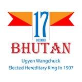 Indepedence du Bhutan de jour national de drapeau illustration libre de droits