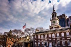 Independência Salão, em Philadelphfia, Pensilvânia Fotos de Stock Royalty Free