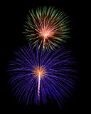 Independance day with fireworks in the night sky Royalty Free Stock Photo