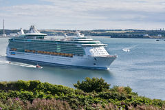 Independance of the Seas sails in Cobh Stock Photo