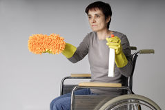 Independancy d'une femme handicaped Image libre de droits
