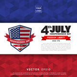 Independce Day Design Element Stock Images