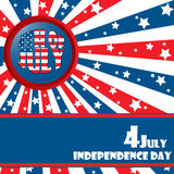Independece day. Background with banner and button Royalty Free Stock Image