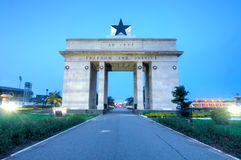 Independence Arch, Accra, Ghana stock photography