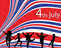 Independence day. Background with children silhouettes Stock Photo
