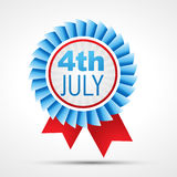 Independence day 4th of july. Vector badge of american independence day 4th of july Royalty Free Stock Photo