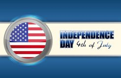 Independence day 4th of july. Illustration design royalty free illustration