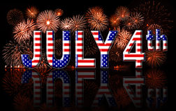 Independence day 4th July concept. American public holiday royalty free illustration