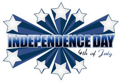 Independence day 4th of july sign. Illustration Stock Photos