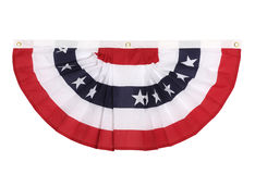 Independence day. A US flag colored bunting decoration as is popular in major US holidays, isolated on white Royalty Free Stock Image