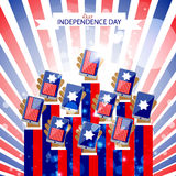 Independence day abstract background Royalty Free Stock Photos