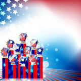 Independence day abstract background Stock Images