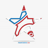 Independence day abstract star Stock Photo