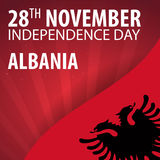 Independence day of Albania. Flag and Patriotic Banner. Vector illustration. Independence day of Albania. Flag and Patriotic Banner. Vector illustration Royalty Free Stock Photo