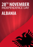 Independence day of Albania. Flag and Patriotic Banner. Vector illustration. Independence day of Albania. Flag and Patriotic Banner. Vector illustration Stock Photography