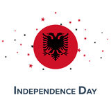 Independence day of Albania. Patriotic Banner. Vector illustration. Independence day of Albania. Patriotic Banner. Vector illustration Stock Image