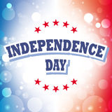 Independence day. America greeting card abstract background  illustration Royalty Free Stock Image