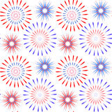 Independence Day of America seamless pattern. July 4th an endless background. USA national holiday repeating texture Royalty Free Stock Image