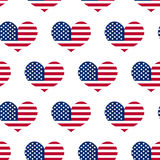 Independence Day of America seamless pattern. July 4th an endless background. USA national holiday repeating texture Royalty Free Stock Images