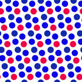 Independence Day of America seamless pattern. July 4th an endless background. USA national holiday repeating texture. With polka dots. Vector illustration Royalty Free Stock Images