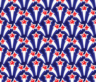 Independence Day of America seamless pattern. July 4th endless background. USA national holiday repeating texture with Stock Photo