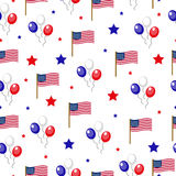 Independence Day of America seamless pattern. July 4th an endless background. USA national holiday repeating texture Stock Photography