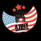 Independence Day America. Symbol of countrys eagle with wings an Royalty Free Stock Photos