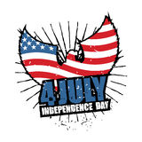 Independence Day America. Symbol of countrys eagle with wings an Royalty Free Stock Photography