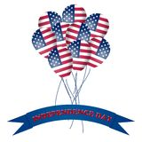 Independence Day American Balloons Stock Images