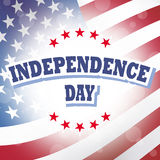 Independence day american flag background stock illustration