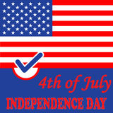 Independence day American flag background. Vector illustration Royalty Free Stock Images