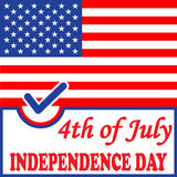 Independence day American flag background. Vector illustration Royalty Free Stock Image