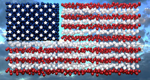 Independence Day American Flag Balloon Display Stock Photography