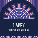 Independence day. American independence day with half circle bunting flags background Royalty Free Stock Photo