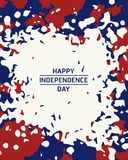 Independence day. American independence day painting brush style background Stock Photography